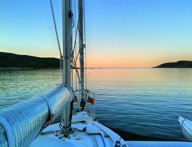 Brig Harbor Island Sunset