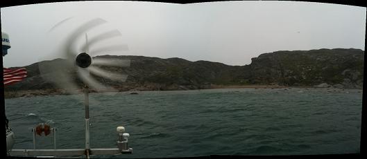 A windy anchorage