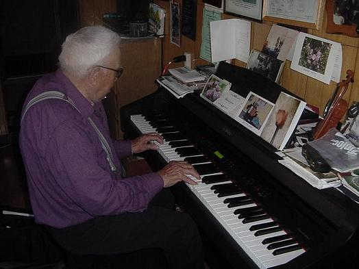 91 years old, those hands, and still making music.
