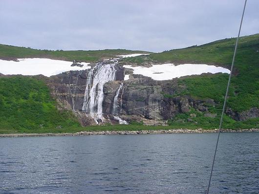 Waterfalls north of Port Manvers