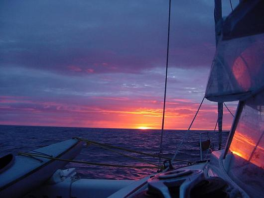 Red sky in the morning, sailor take warning!